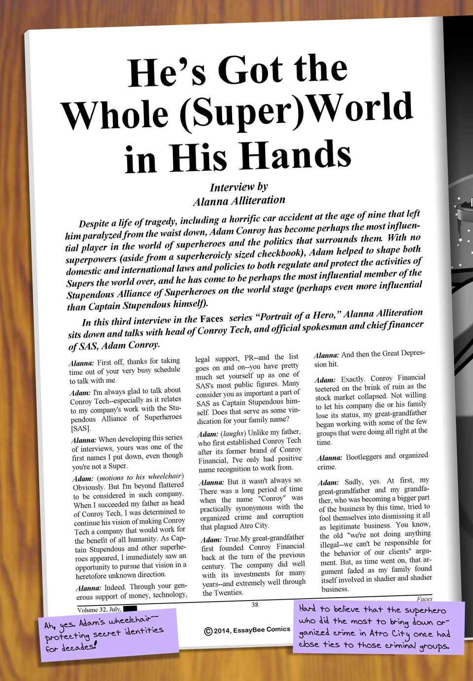 Interleude--Faces Magazine Interview 3 Page 1